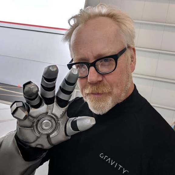 Adam Savage with Ironman type arm